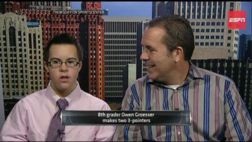 Con su jugada Owen, llega a Sports Centers de ESPN, un honor difícil de alcanzar para cualquier deportista en el mundo.